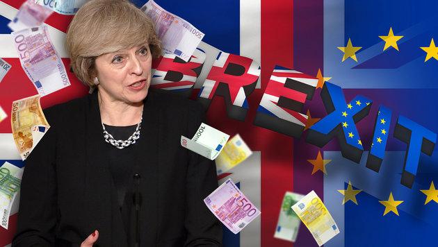 """Brexit: """"No deal"""" würde teuer für Großbritannien (Bild: thinkstockphotos.de, AFP/STEPHANE DE SAKUTIN)"""