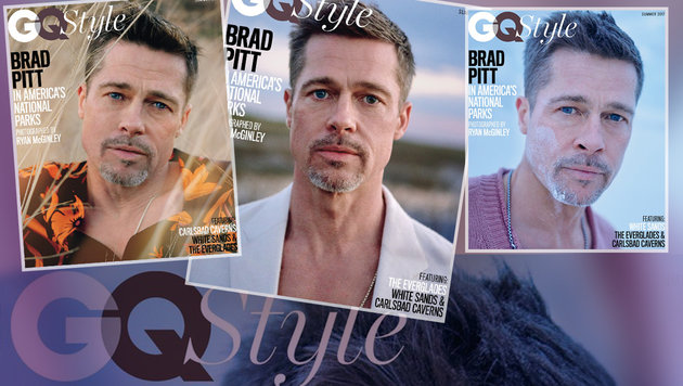 Diese Coverfotos von Brad Pitt versetzen seine Fans in Aufruhr. (Bild: GQ Style)