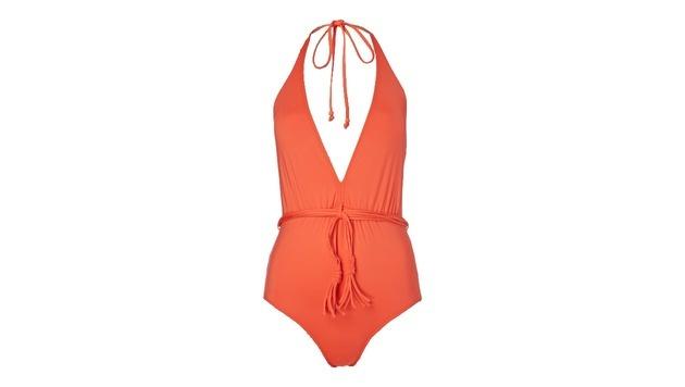 Badeanzug in Orange mit XXL-Ausschnitt (Bild: Peek & Cloppenburg)