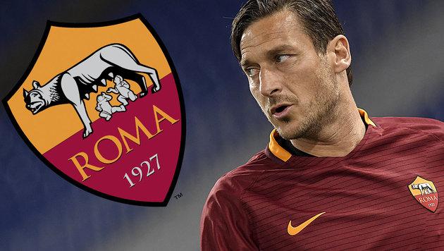Roma-Legende Totti beendet seine Karriere! (Bild: AFP)