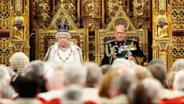 Queen Elisabeth II. mit ihrem Ehemann Prince Philip, Duke of Edinburgh (Bild: AFP)