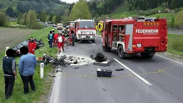 Die Unfallstelle in der Steiermark (Bild: APA/FF ROTTENMANN)