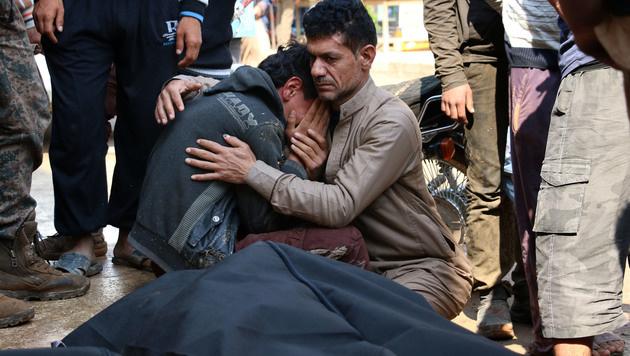 Mehr als 400.000 Menschen starben seit Beginn des Syrien-Konflikts. (Bild: AFP)