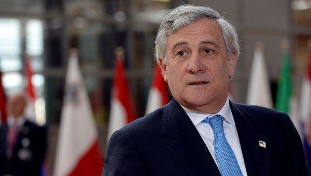 EU-Parlamentspräsident Antonio Tajani (Bild: AFP)