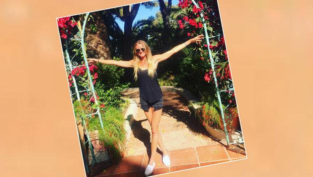 Tennis-Beauty Daniela Hantuchova genießt den Frühling - und das Leben. (Bild: Instagram)