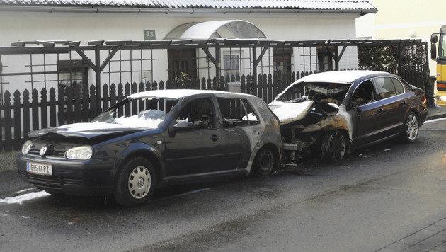 Asylwerber steckte in Graz drei Autos in Brand (Bild: Elmar Gubisch)