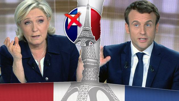 Frankreich - auch nach der Wahl tief gespalten (Bild: thinkstockphotos.de, APA/AFP/STRINGER)