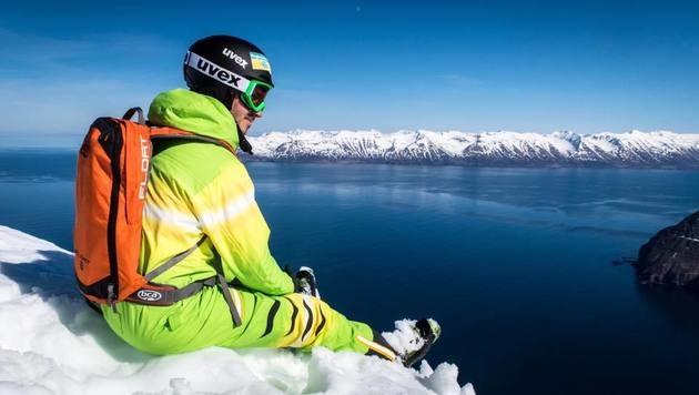 Felix Neureuther dreht derzeit einen Freeride-Film in Island. (Bild: facebook.com/Felix Neureuther)