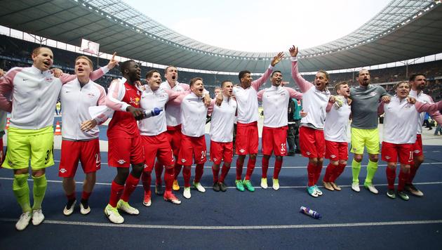 CL-Quali perfekt! RB Leipzig startet Partymarathon (Bild: GEPA)