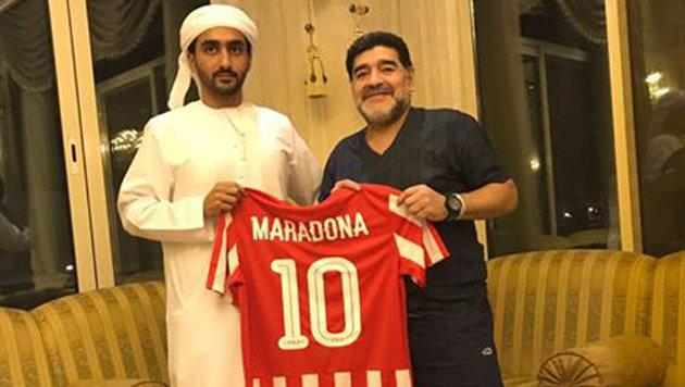 Diego Maradona hat wieder einen Job (Bild: Facebook.com)