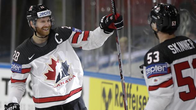 Kanada und Russland feiern Kantersiege (Bild: AP)