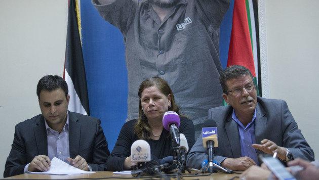 Barghoutis Ehefrau Fadwa spricht von einer Fälschung. (Bild: AP)