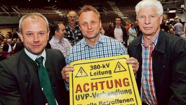 Adnets Bgm. Wolfgang Auer, Alex Sartory, Vize von Bad  Vigaun und  IG-Präs. Theo Seebacher. (Bild: Wolfgang Weber)