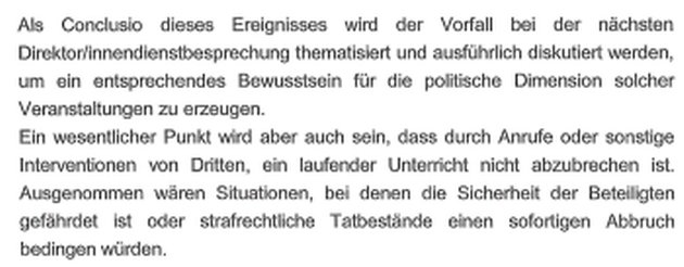 Die Conclusio im Erhebungsbericht des OÖ Landesschulrates (Ausschnitt) (Bild: LSR OÖ)