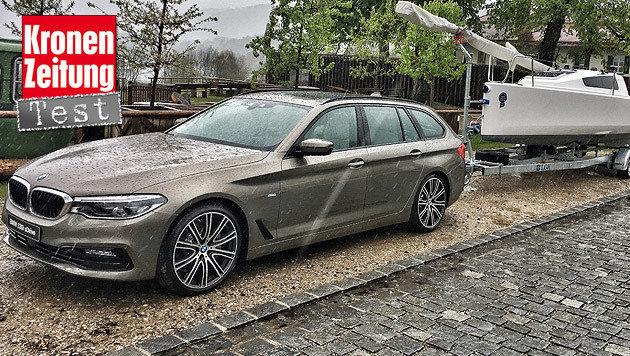 BMW 5er Touring: Platz für Wasserspiele (Bild: Stephan Schätzl)