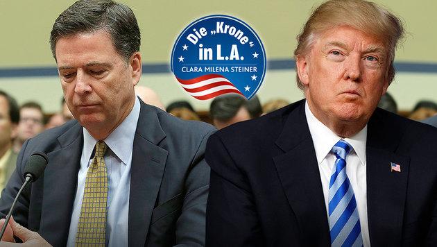 Comey (li.) und Trump (Bild: AFP, AP)