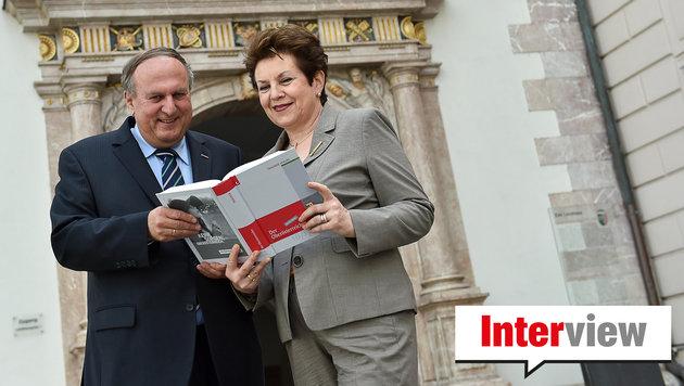 Präsident und Verleger Rudolf Trauner mit Gattin  Ingrid, Mitgeschäftsführerin im Trauner Verlag. (Bild: Harald Dostal)