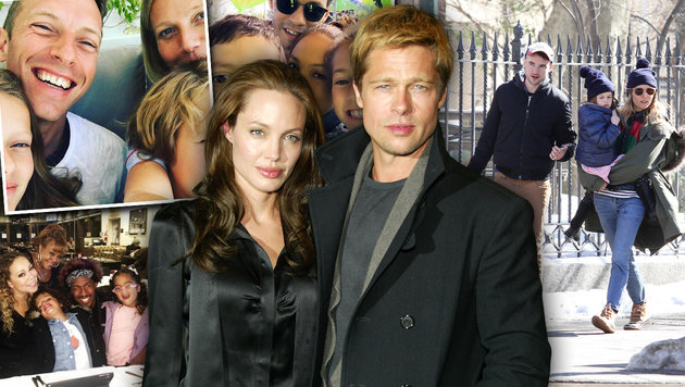 Paltrow, Carey, Miller sind für Jolie Vorbilder in Sachen Co-Parenting. (Bild: Viennareport)