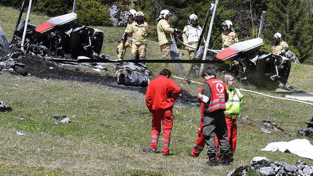 Hubschrauber in Tirol abgestürzt: Zwei Tote (Bild: APA/ZOOM.TIROL)