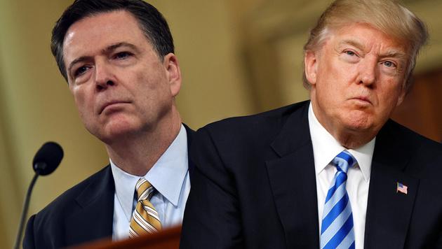 Ex-FBI-Chef James Comey, US-Präsident Donald Trump (Bild: Nicholas Kamm/AFP, AP/Evan Vucci)