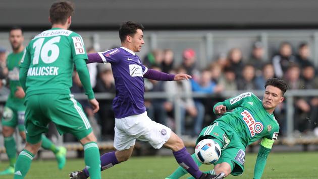 Rapid-Fans sorgen bei Amateur-Derby für Skandal (Bild: GEPA)