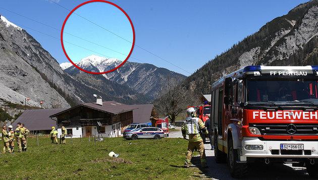 Der Heli kollidierte mit dem Seil einer Materialseilbahn. (Bild: Zoom.Tirol)