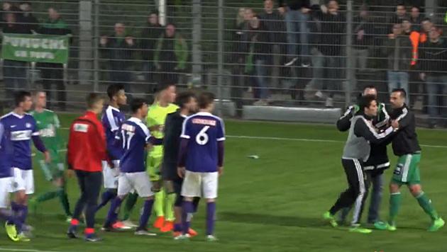 Amateur-Derby-Skandal: Rapid erteilt 4 Hausverbote (Bild: facebook.com)