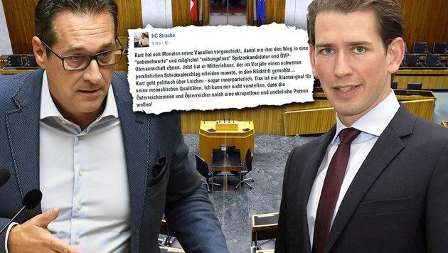 Heftig: So schießt sich FPÖ auf Sebastian Kurz ein (Bild: APA/BARBARA GINDL, APA/ROBERT JAEGER, APA/ASHRAF MAHMOUD)