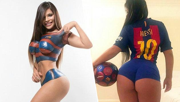 Sexy Barca-Edelfan verkündet Mega-Transfer (Bild: Instagram)