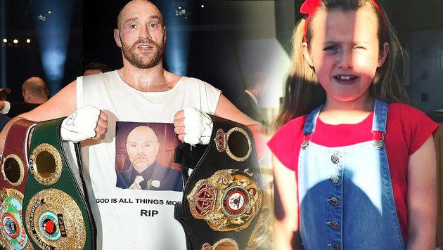 "Fury-Tochter: ""Papa haut Joshua das Auge raus!"" (Bild: GEPA, Instagram)"