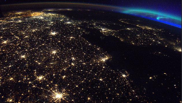 ISS-Astronaut macht Foto von prächtiger Aurora (Bild: Thomas Pesquet/ESA via NASA)