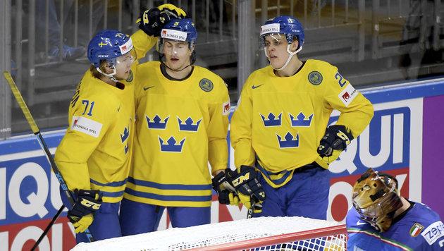 Klare Siege von Schweden und Tschechien (Bild: AP)