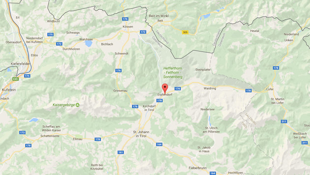 Im Ortszentrum von Erpfendorf wurde die Bank überfallen. (Bild: Screenshot Google Maps)