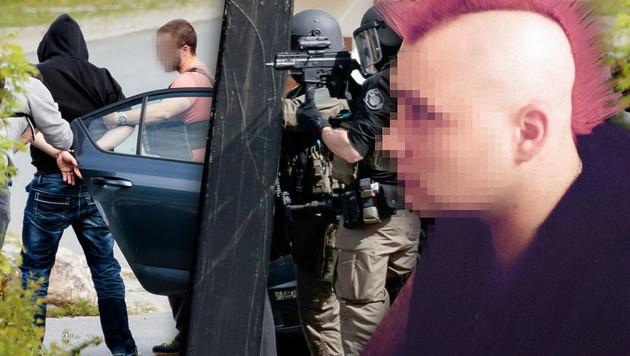 """Der mutmaßliche Geiselnehmer (28) wurde festgenommen. (Bild: APA/EXPA/JOHANN GRODER, """"Krone"""")"""