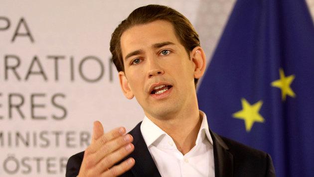 """""""Ich bin nicht Parteichef"""", stellte Kurz klar. Wird er es bald doch sein? (Bild: AP)"""