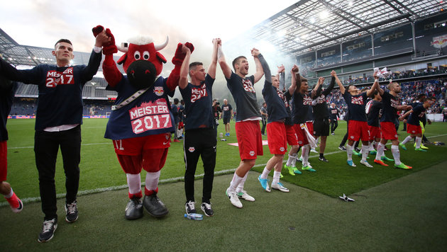 1:0 gegen Rapid! Salzburg kürt sich zum Meister! (Bild: GEPA)