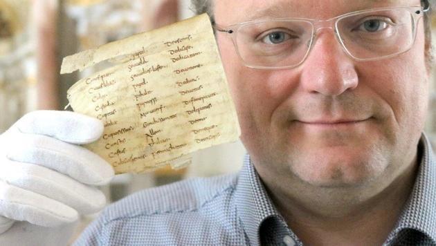 Älteste deutsche Schriftstücke in Admont entdeckt? (Bild: Norbert Regitnig-Tillian)
