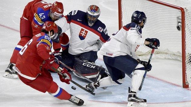 Russland weiter, Kanada verliert gegen Schweiz (Bild: AP)