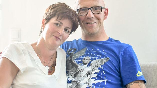 Sonja mit ihrem Mann Thomas (Bild: Markus Wenzel)