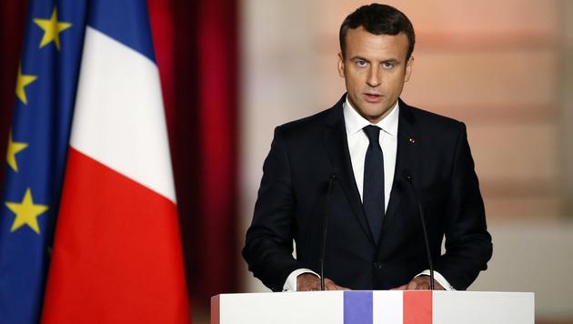 Emmanuel Macron (Bild: AP)