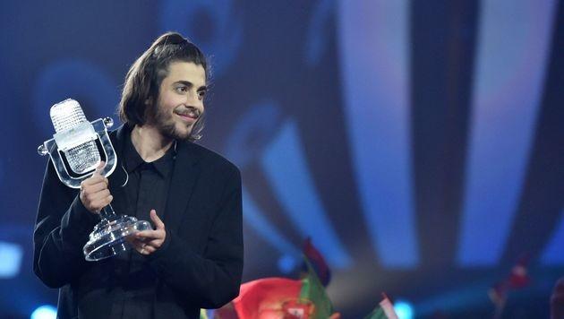 Portugal gewinnt den Song Contest. (Bild: AFP)