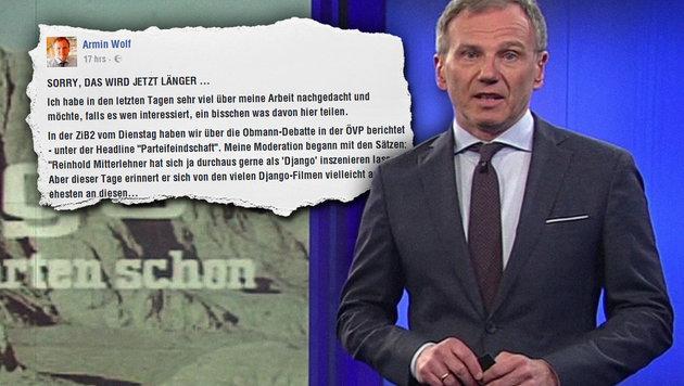 "Medienpsychologe: ""Armin Wolf ist brutale Mimose"" (Bild: ORF, facebook.com)"