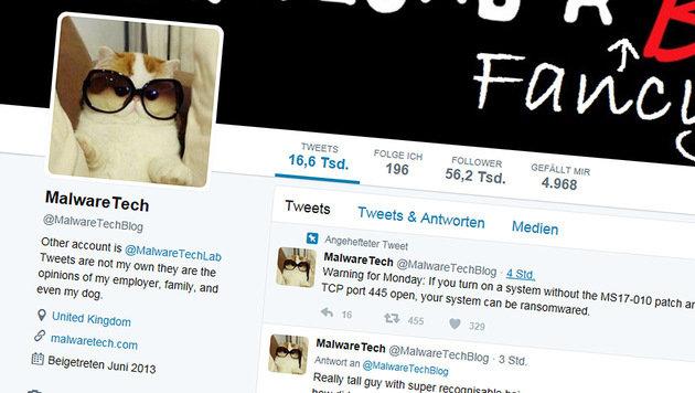 22-Jähriger stoppte weltweite Cyber-Attacke (Bild: twitter.com/MalwareTechBlog)