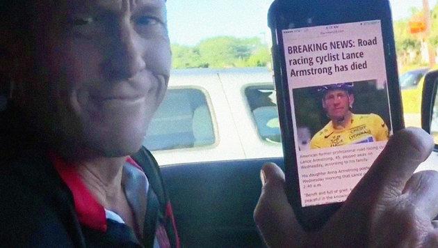 Armstrong macht sich über eigenen Tod lustig! (Bild: instagram.com)