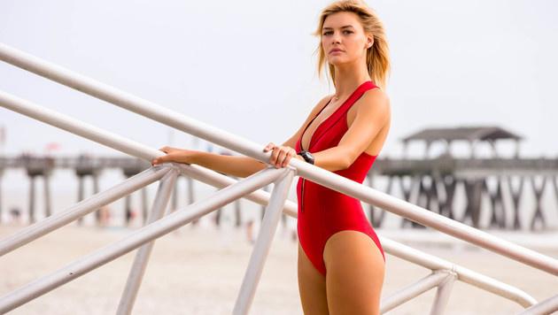 """Kelly Rohrbach spielt CJ Parker im neuen """"Baywatch""""-Streifen. (Bild: Viennareport)"""