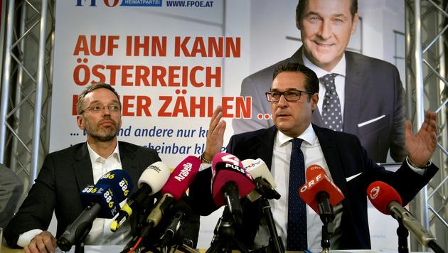 Heinz-Christian Strache und FPÖ-Generalsekretär Herbert Kickl (li.) (Bild: APA/Herbert Pfarrhofer)