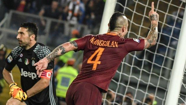Juve muss nach 1:3 bei Roma auf Titel warten! (Bild: AFP)