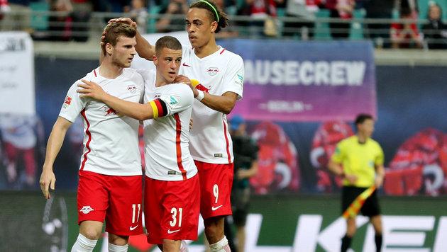 Leipzig schuftet in Tirol für die Champions League (Bild: APA/dpa-Zentralbild/Jan Woitas)