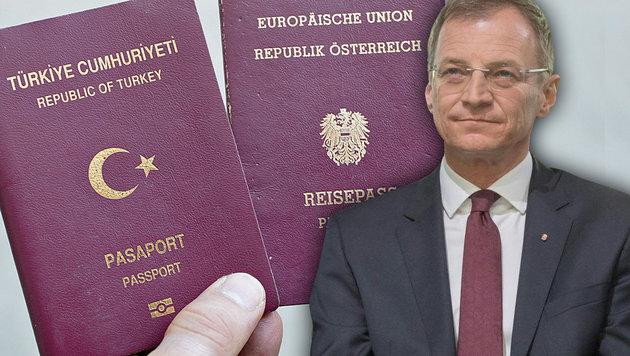 Oberösterreichs Landeshauptmann Stelzer nimmt jetzt türkische Doppelstaatsbürger unter die Lupe. (Bild: APA/Georg Hochmuth, fotokerschi.at/Werner Kerschbaum)