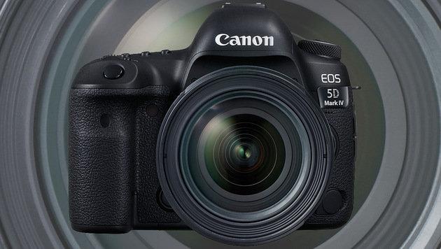 Canons EOS 5D Mark IV schießt bis zu sieben Bilder pro Sekunde und zeichnet Videos in 4K auf. (Bild: Canon)